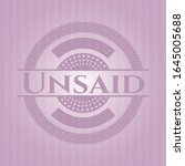 unsaid badge with pink... | Shutterstock .eps vector #1645005688