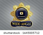 shiny badge with video player... | Shutterstock .eps vector #1645005712
