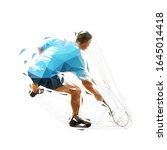 squash player  low polygonal...   Shutterstock .eps vector #1645014418