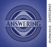 answering badge with denim... | Shutterstock .eps vector #1645018465