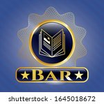 shiny badge with book icon and ... | Shutterstock .eps vector #1645018672