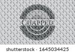 chapped silver color badge.... | Shutterstock .eps vector #1645034425