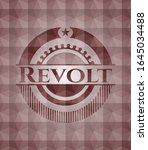 revolt red seamless badge with... | Shutterstock .eps vector #1645034488