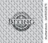 biting silver color badge or... | Shutterstock .eps vector #1645052875
