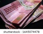 money indonesian rupiah... | Shutterstock . vector #1645074478