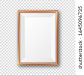 realistic blank wooden picture... | Shutterstock .eps vector #1645096735