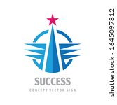 success business logo template... | Shutterstock .eps vector #1645097812