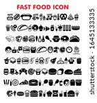 fast food icon in trendy flat...