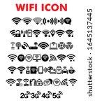 wifi icon in trendy flat style...
