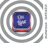 on line red blue art navigation ... | Shutterstock .eps vector #164516315