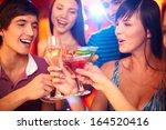 portrait of joyful friends... | Shutterstock . vector #164520416