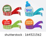 color collection of scarfs | Shutterstock .eps vector #164521562