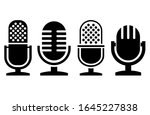 microphone icons vector...   Shutterstock .eps vector #1645227838
