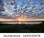 Beautiful Sunset Aat A Lake In...
