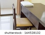 table and chair near window in... | Shutterstock . vector #164528132