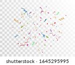 colorful balls  ribbon....   Shutterstock .eps vector #1645295995