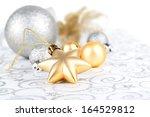 christmas decoration on white...   Shutterstock . vector #164529812