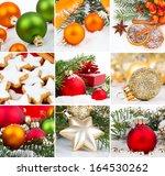 christmas decoration set  ... | Shutterstock . vector #164530262