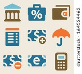 finance web icons set 2 vintage ... | Shutterstock .eps vector #164534462