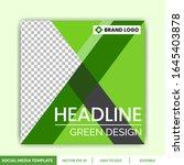 green and farm social media... | Shutterstock .eps vector #1645403878
