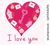 vector card design to valentine'...