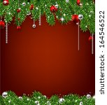 christmas red background with... | Shutterstock .eps vector #164546522