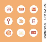 fin tech icon set include... | Shutterstock .eps vector #1645465222
