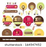 sweet label design | Shutterstock .eps vector #164547452