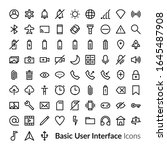 line user interface icons....