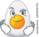 cool boiled egg mascot... | Shutterstock .eps vector #1645496752