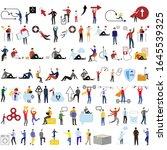set of 73 flat cartoon... | Shutterstock .eps vector #1645539325