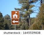 Ranger Station Direction Sign at Black Mesa Ranger Station in Sitgreaves National Forest, Arizona USA