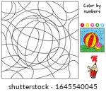Colorful Ball. Color By Numbers....