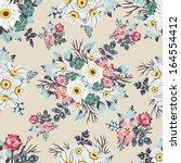 vector seamless floral pattern  | Shutterstock .eps vector #164554412