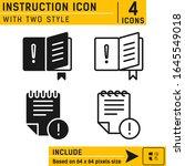 instruction icon isolated on...