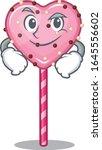 cool candy heart lollipop... | Shutterstock .eps vector #1645556602