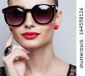 closeup of perfect model in big ... | Shutterstock . vector #164558126