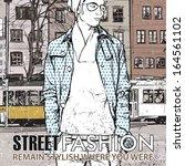 vector illustration of stylish... | Shutterstock .eps vector #164561102