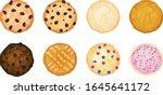 eight various cookies in a... | Shutterstock .eps vector #1645641172