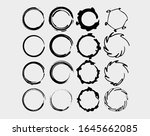 round frames set. collection of ... | Shutterstock .eps vector #1645662085