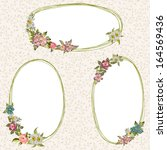 vector frames with flowers    Shutterstock .eps vector #164569436