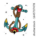 vector image of anchor rope... | Shutterstock .eps vector #1645737478