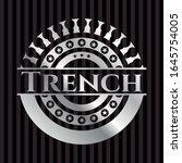 trench silver badge. vector... | Shutterstock .eps vector #1645754005