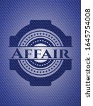 affair badge with jean texture. ... | Shutterstock .eps vector #1645754008