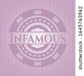infamous badge with pink... | Shutterstock .eps vector #1645763962