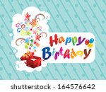 abstract happy birthday... | Shutterstock .eps vector #164576642