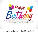 abstract happy birthday... | Shutterstock .eps vector #164576678