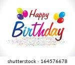 abstract happy birthday... | Shutterstock .eps vector #164576678