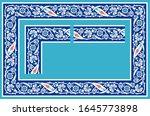 islamic floral frame. frame... | Shutterstock . vector #1645773898