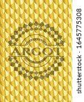 argot gold shiny badge. scales... | Shutterstock .eps vector #1645775308